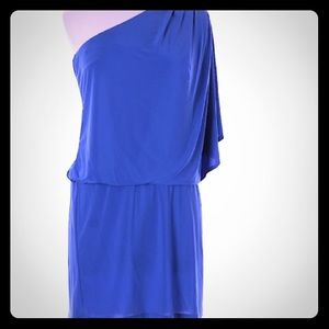 Jessica Simpson one shoulder size small blue dress